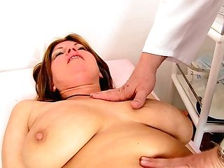 Playful Mom Bohunka Gets Milked Intensively By Gynecologist