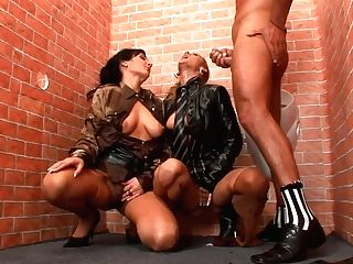 Two Spoiled Hussies Give Dual Dt To Horny Dude
